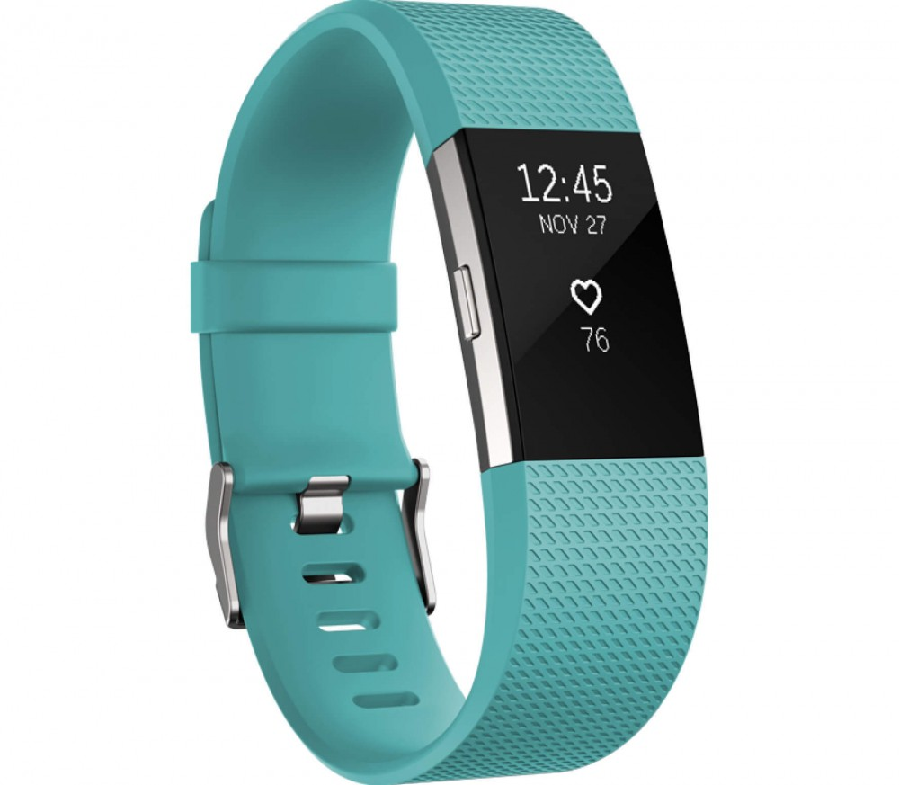 fitbit charge 2 running watch small green silver buy it at the keller sports online shop. Black Bedroom Furniture Sets. Home Design Ideas