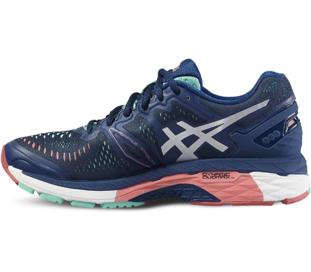 asics gel kayano 23 women 39 s running shoes dark blue light red buy it at the keller sports. Black Bedroom Furniture Sets. Home Design Ideas
