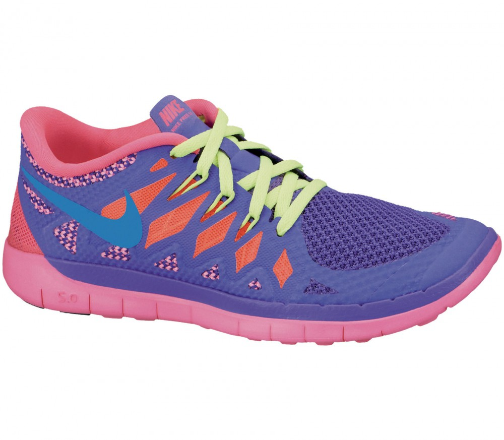 Purple And Pink Nike Running Shoes