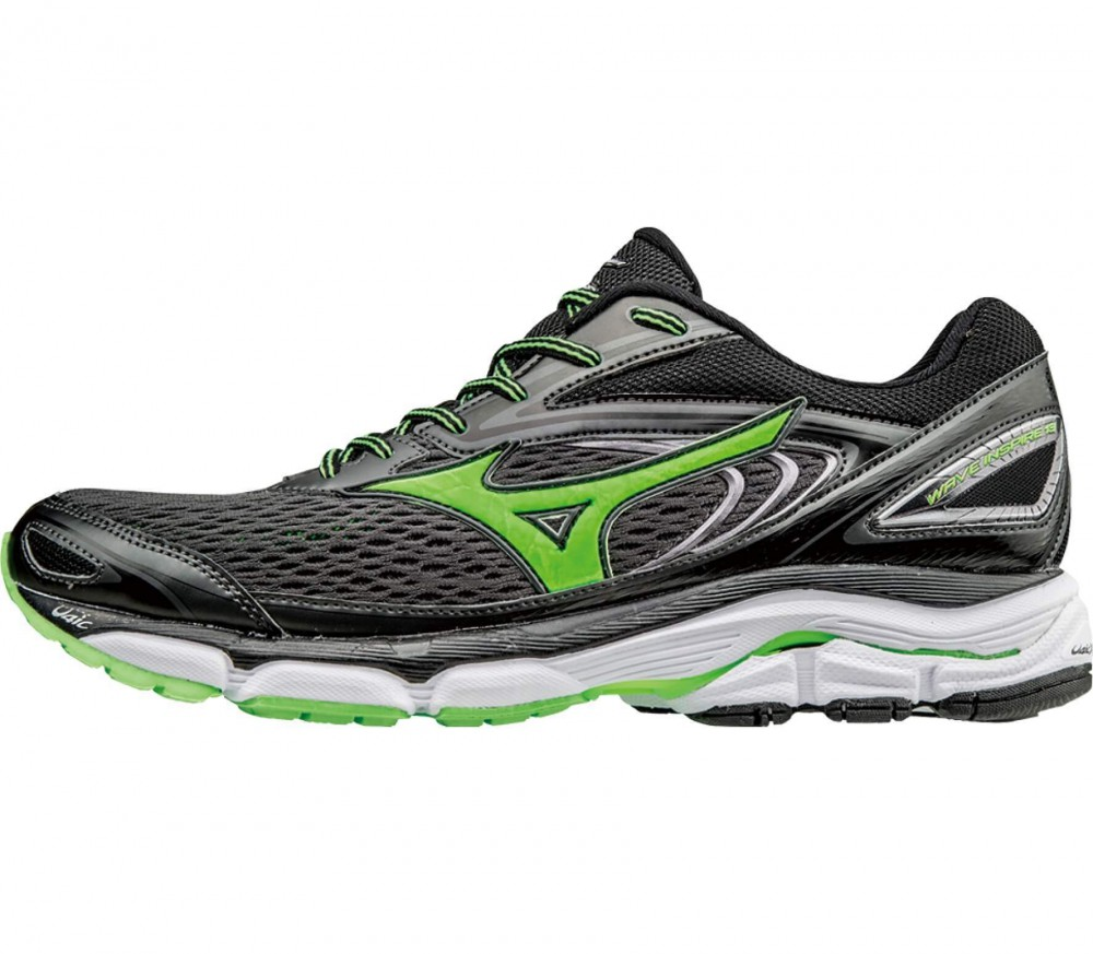 Mizuno - Wave Inspire 13 men's running shoes (black/light green)
