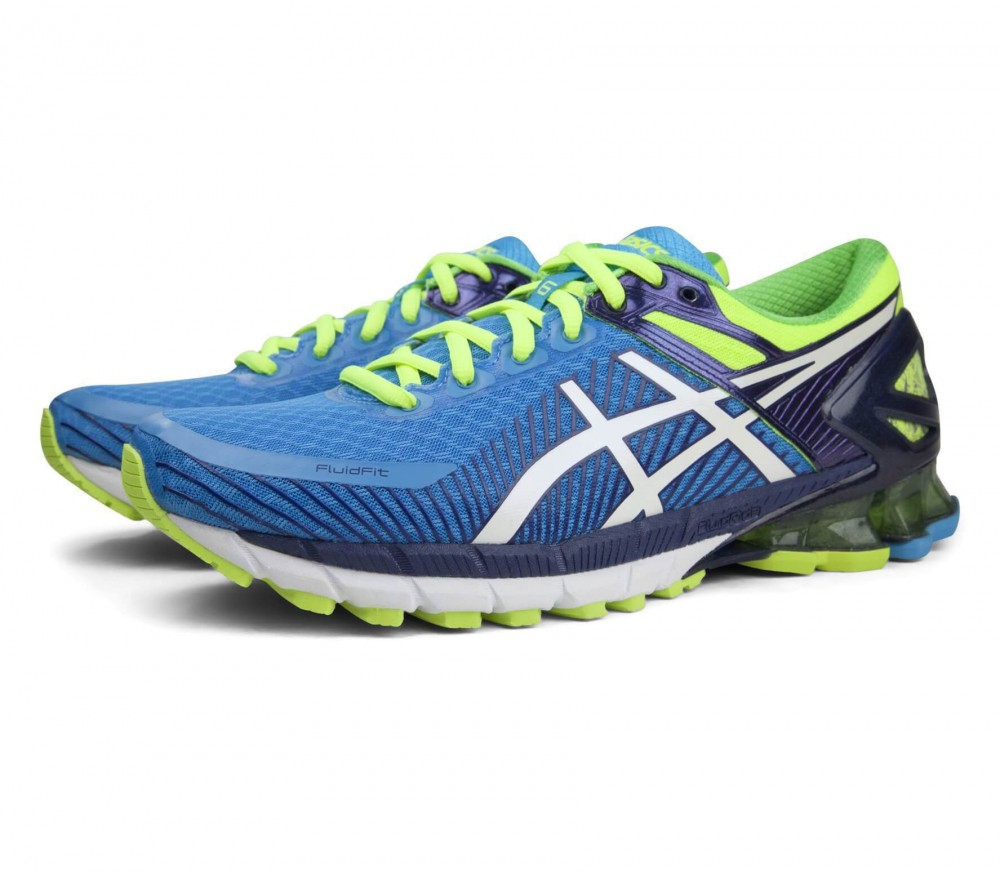 asics gel kinsei 6 men 39 s running shoes blue yellow buy it at the keller sports online shop. Black Bedroom Furniture Sets. Home Design Ideas