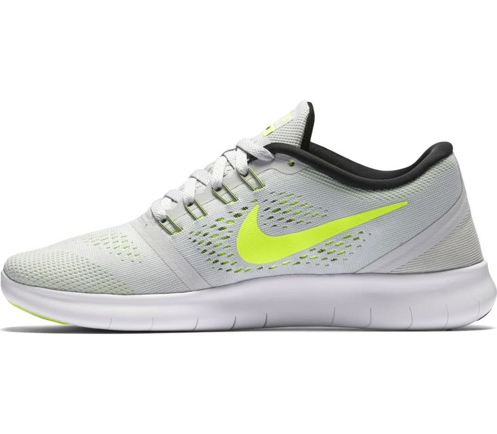 nike free rn womens running shoes greyneon green