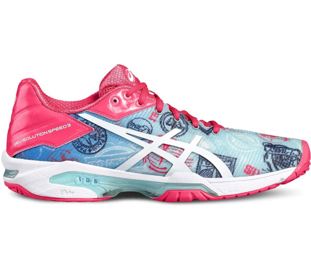 Asics - Gel-Solution Speed 3 L.E. Pari women's tennis shoes (blue/pink)
