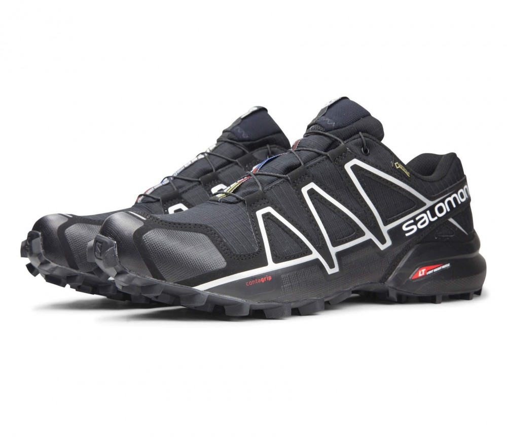 Salomon - Speedcross 4 GTX men's running shoes (black/silver)