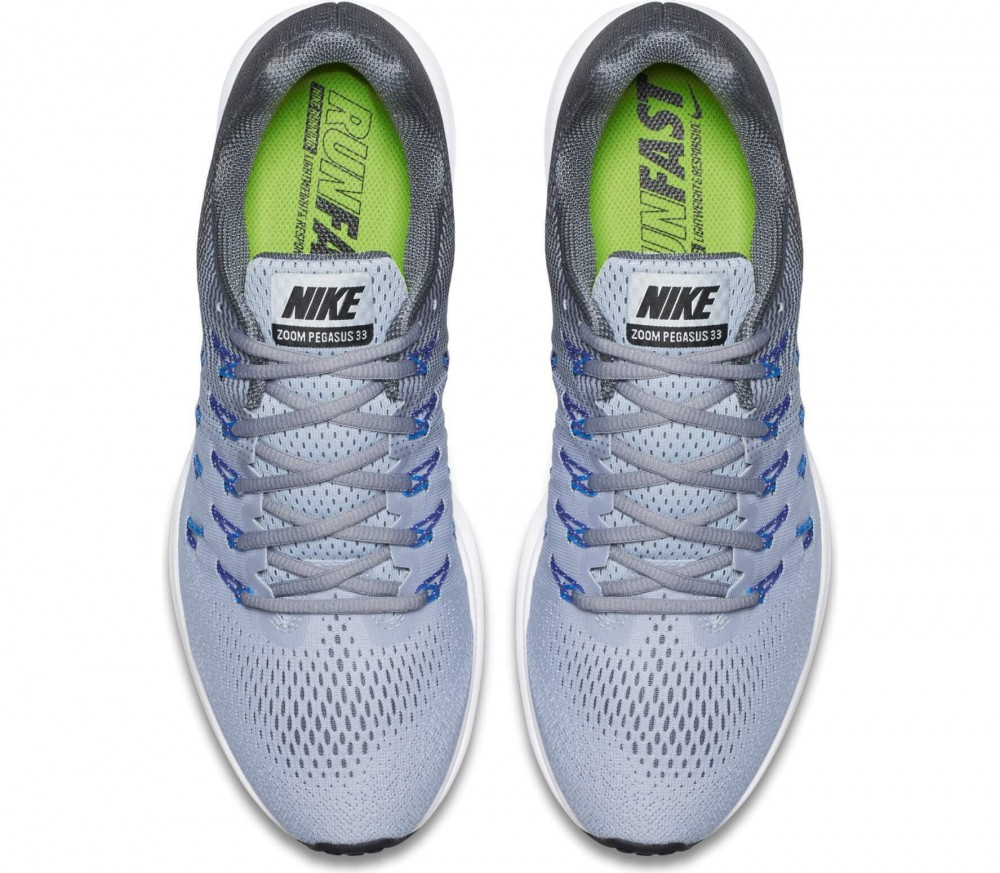 Nike - Air Zoom Pegasus 33 men's running shoes (light grey/blue)