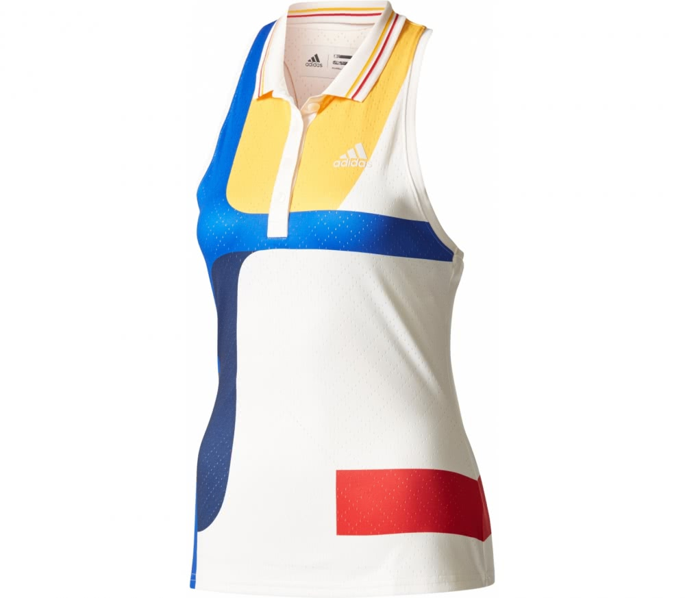 Adidas - New York Color Blocked women's tennis tank top top (white)