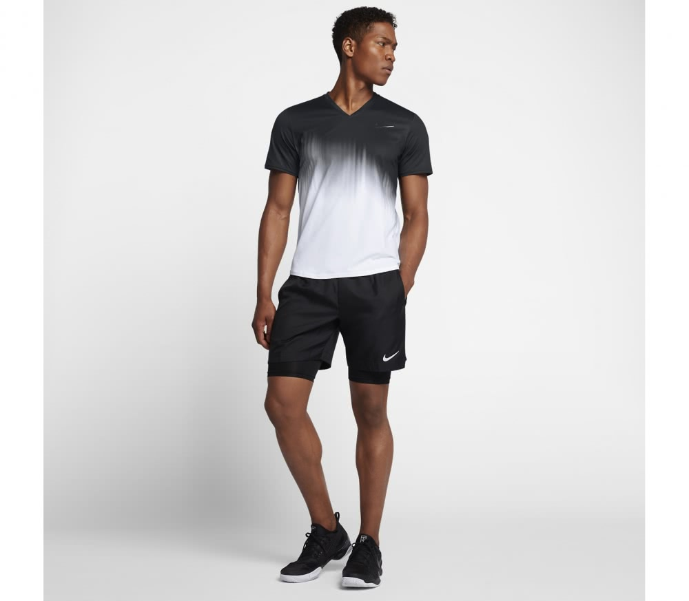 Nike - Roger Federer Court men's tennis top (black/white)