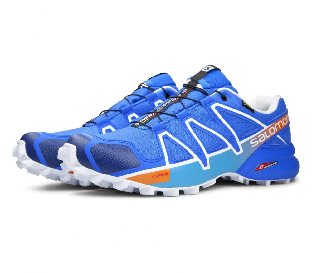Salomon - Speedcross 4 GTX men's running shoes (blue/white)
