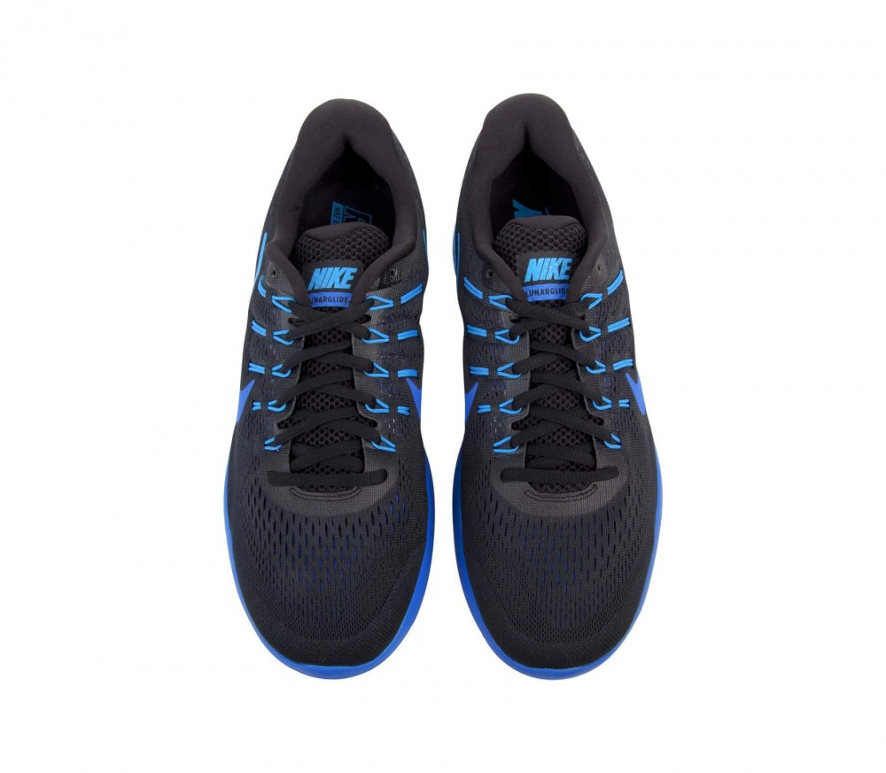 Nike - LunarGlide 8 men's running shoes (black/blue)