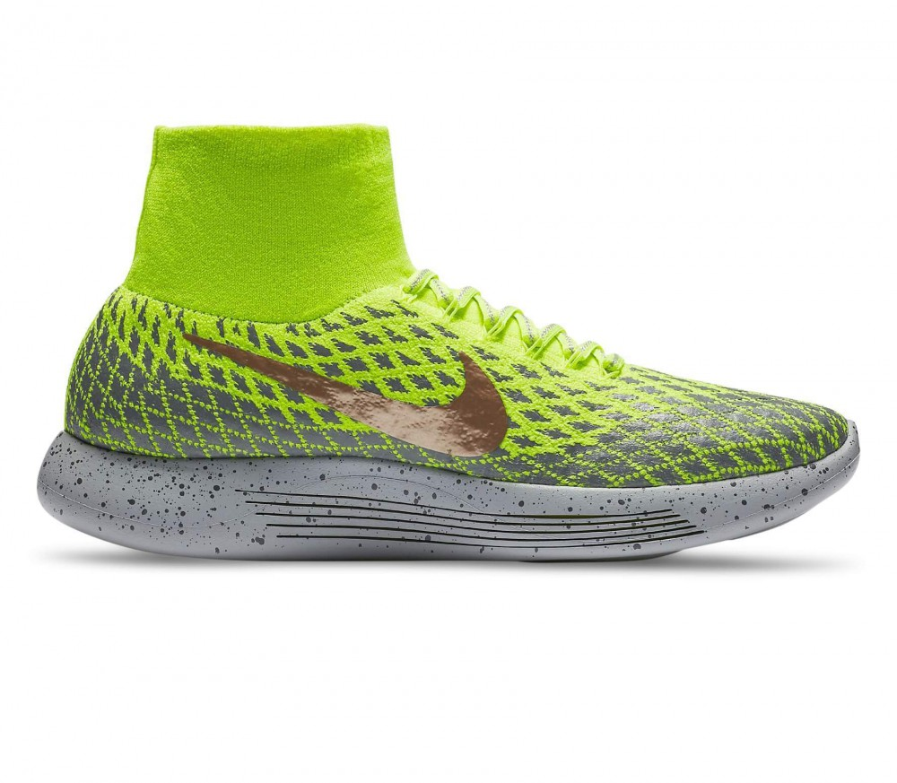 Nike - LunarEpic Flyknit Shield men's running shoes (light yellow/grey)