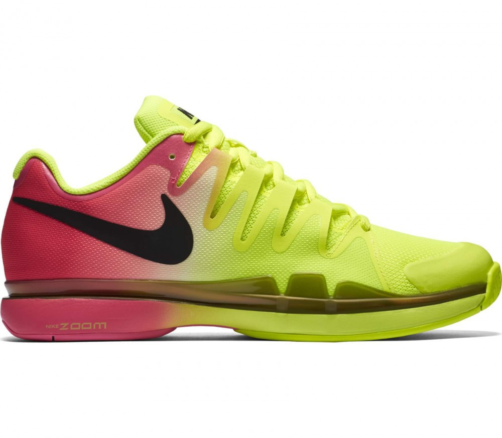 Nike - Zoom Vapor 9.5 Tour men's tennis shoes (light yellow/pink)
