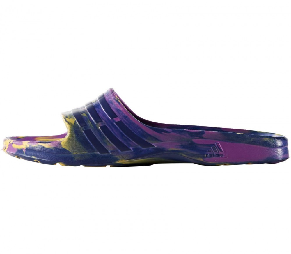 Adidas - Adilette Duramo Sleek women's flip flops (purple/black)
