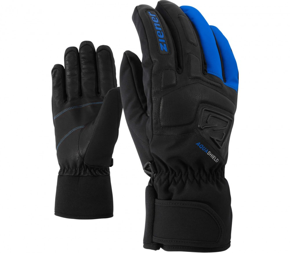 Ziener - Glyxus AS® men's ski gloves (black/blue)