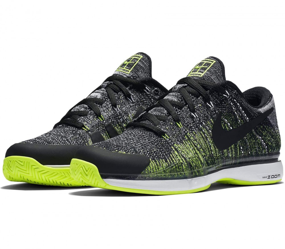 Nike - Zoom Vapor Flyknit men's tennis shoes (black/white)