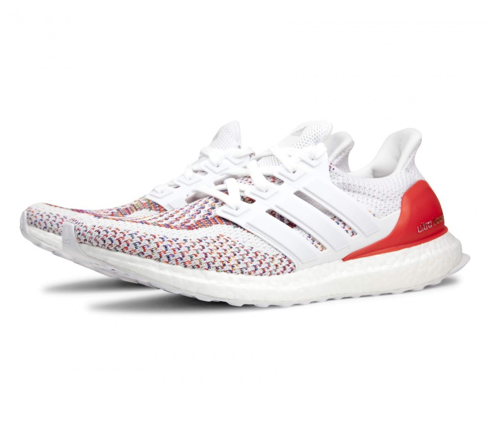 adidas ultra boost men 39 s running shoes white red buy. Black Bedroom Furniture Sets. Home Design Ideas
