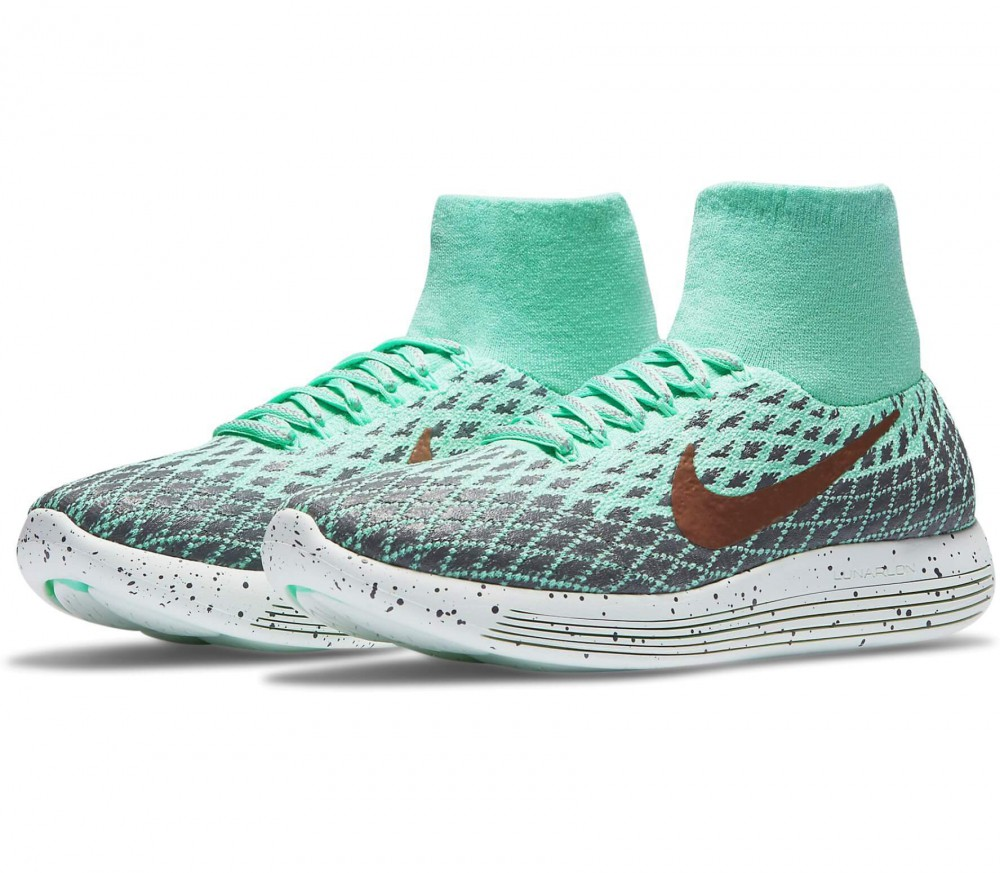 Nike - LunarEpic Flyknit Shield women's running shoes (green/grey)