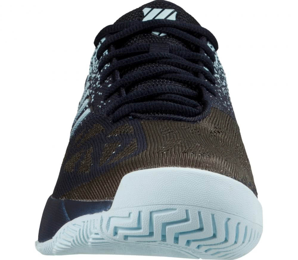 K-Swiss - Knitshot men's tennis shoes (black/light blue)