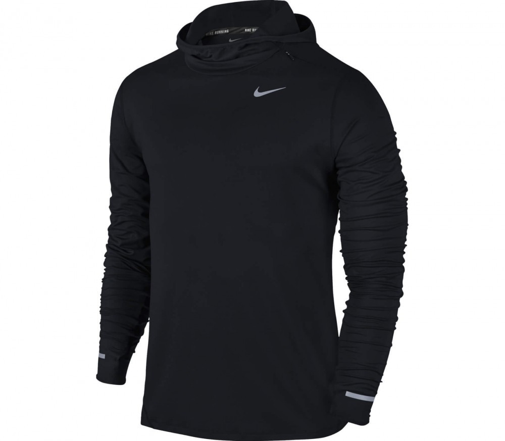 Nike - Dri-Fit Element men's running hoodie (black)