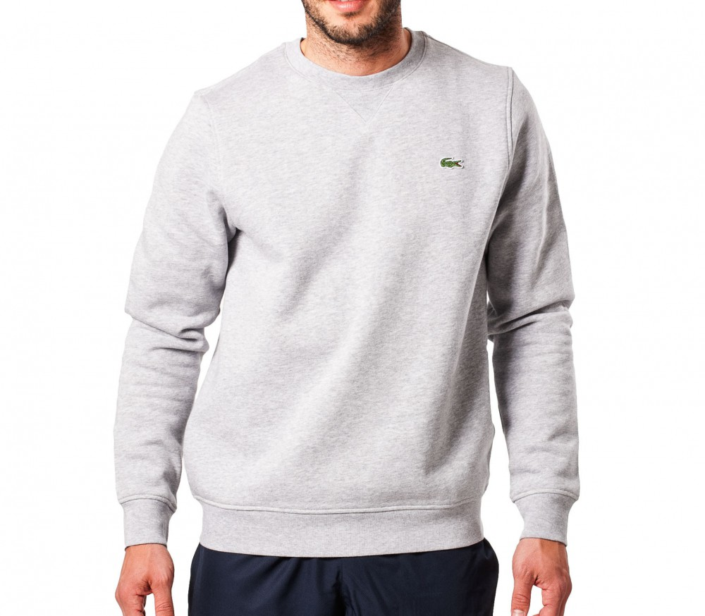 lacoste basic sports classic men 39 s pullover grey buy. Black Bedroom Furniture Sets. Home Design Ideas