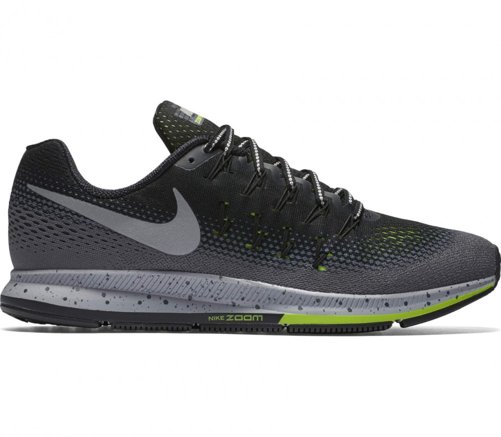 Nike - Air Zoom Pegasus 33 Shield men's running shoes (grey/light green)