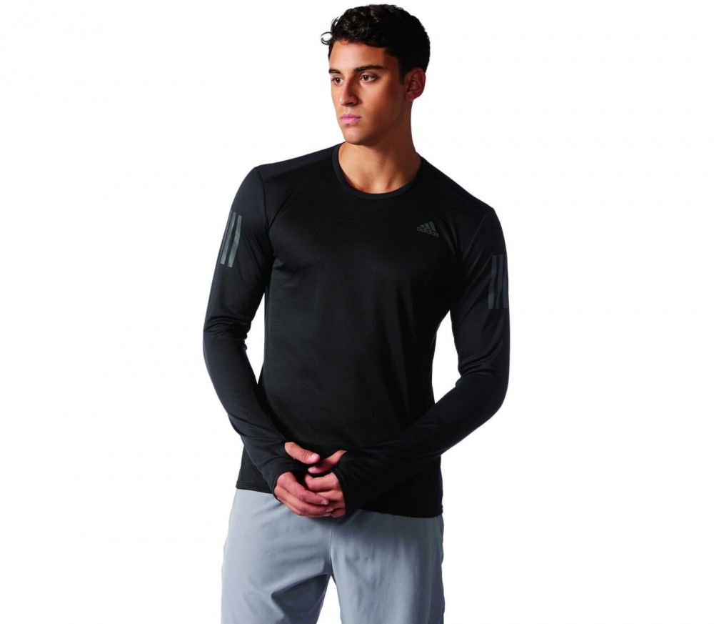Adidas - Response Longsleeve men's running t-shirt (black/grey)