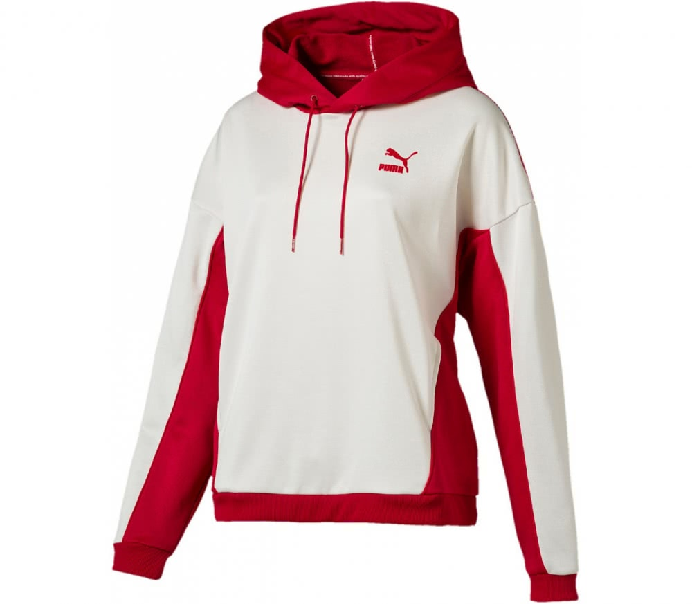puma oversized women 39 s training hoodie white red buy. Black Bedroom Furniture Sets. Home Design Ideas