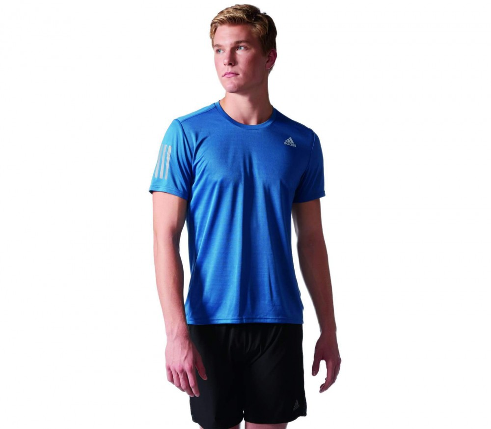 Adidas - Response Shortsleeve men's running top (blue)