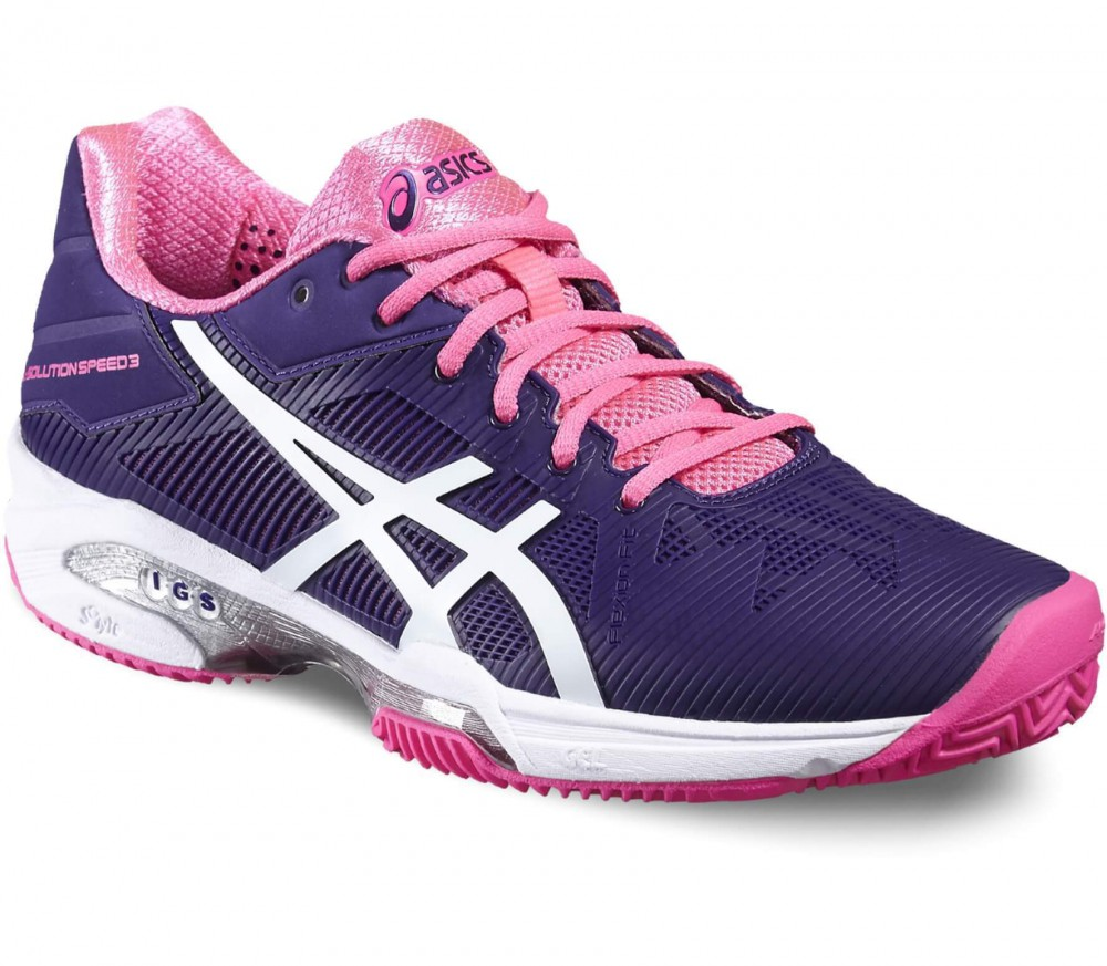 Asics - Gel-Solution Speed 3 Clay women's tennis shoes (purple/pink)