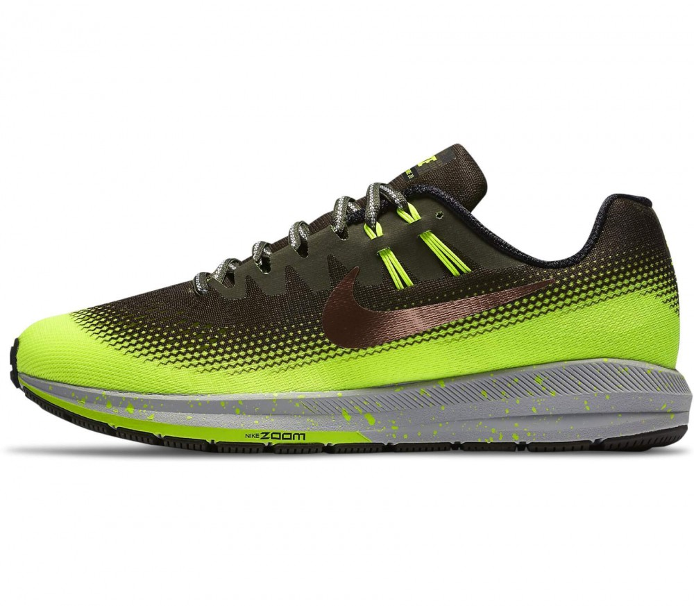 Nike - Air Zoom Structure 20 Shield men's running shoes (dark green/light green)