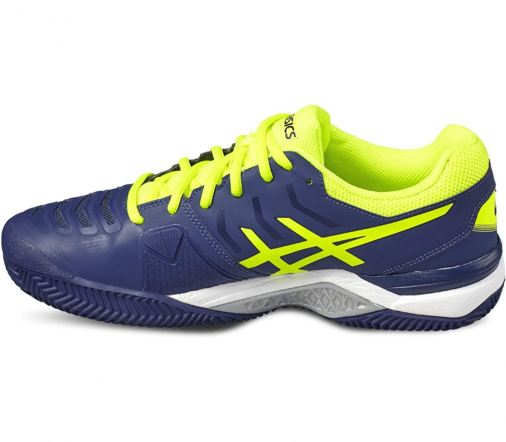 Asics - Gel-Challenger 11 Clay men's tennis shoes (blue-yellow)