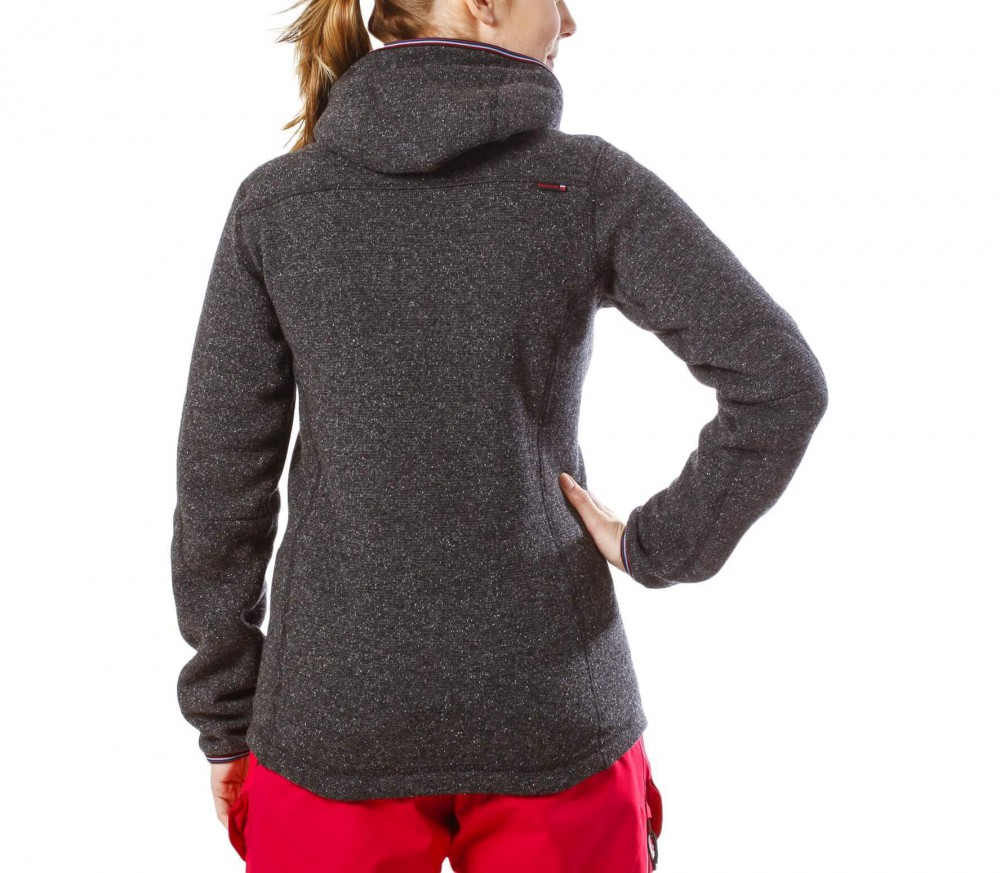 State of Elevenate - Argentiere Hood women's cardigan (grey/red ...