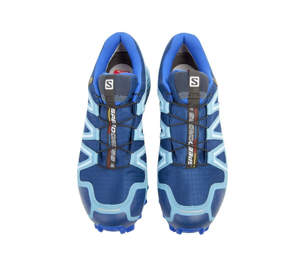 Salomon - Speedcross 4 GTX women's running shoes (light blue/dark blue)