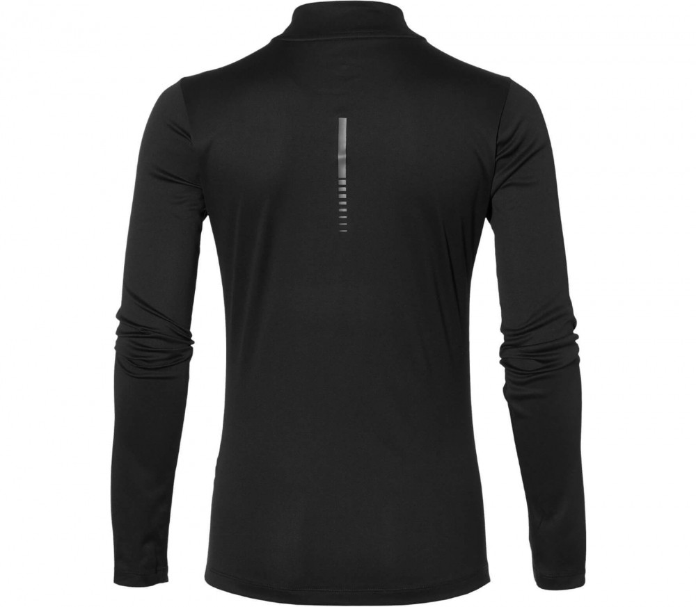 Asics - long-sleeved 1/2 Zip women's running top (black)