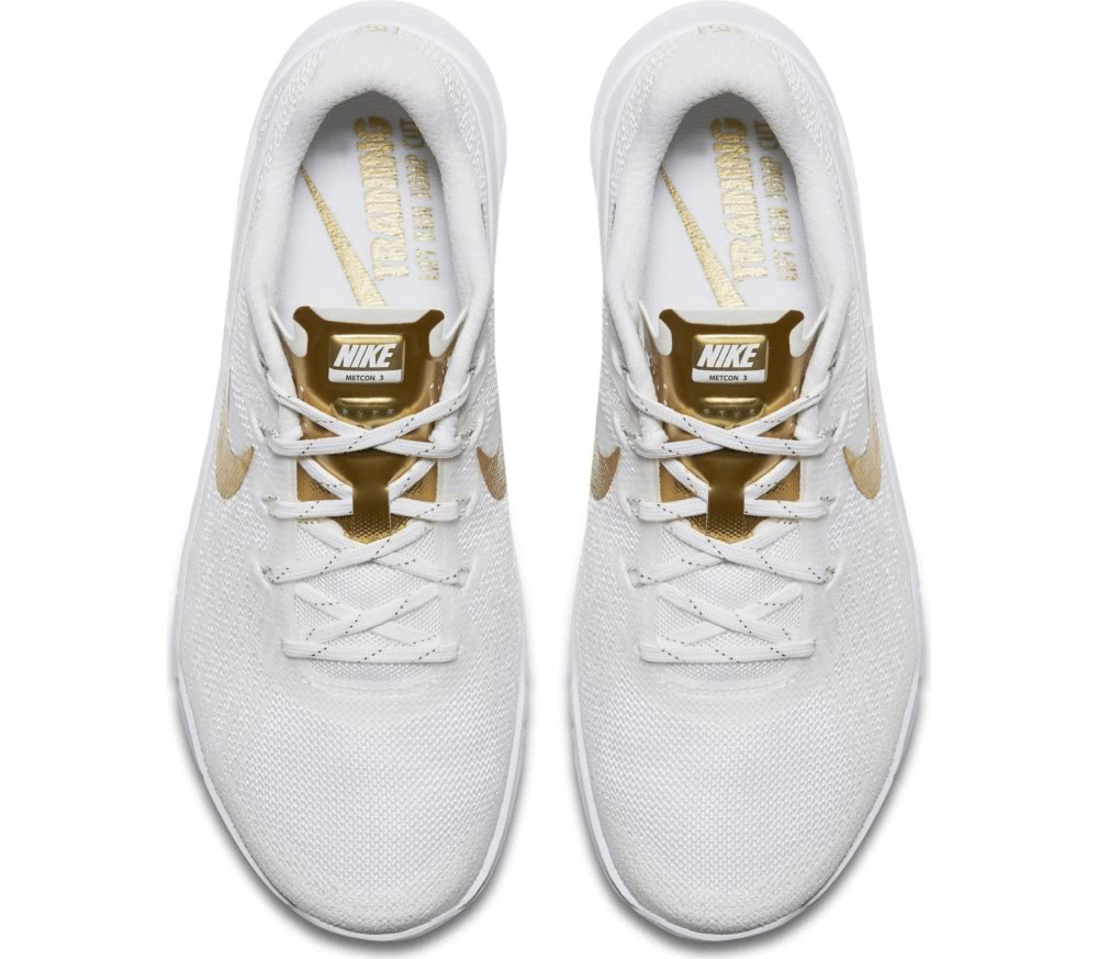 nike metcon 3 amp women 39 s training shoes white gold. Black Bedroom Furniture Sets. Home Design Ideas