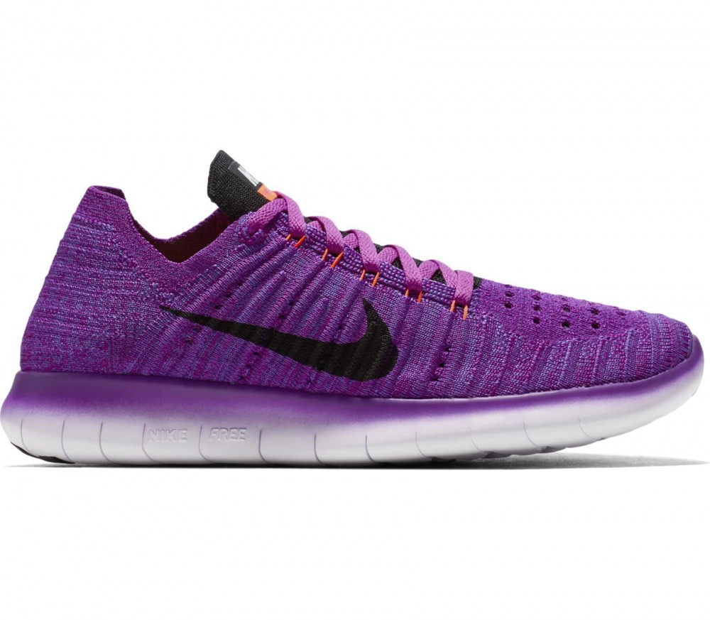 nike free fly knit women 39 s running shoes pink purple. Black Bedroom Furniture Sets. Home Design Ideas