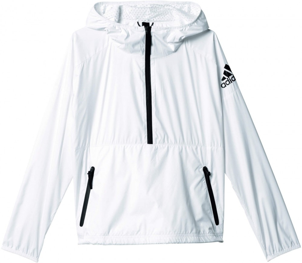 adidas z n e women 39 s windbreaker white black buy it. Black Bedroom Furniture Sets. Home Design Ideas