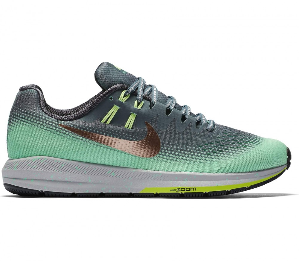 Nike - Air Zoom Structure 20 Shield women's running shoes (dark green/light green)