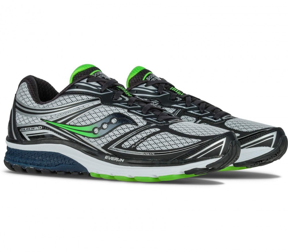 Saucony - Guide 9 men's running shoes (grey/green)