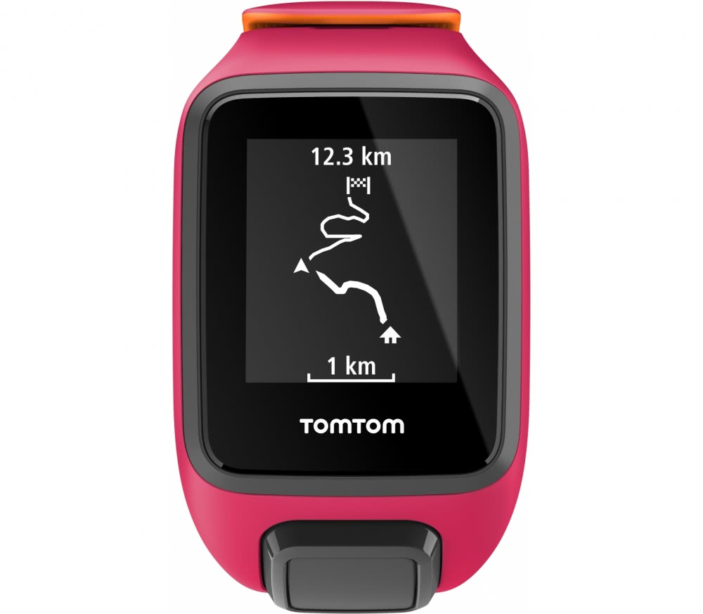 tomtom runner 3 cardio music gps sports watch s pink orange buy it at the keller sports. Black Bedroom Furniture Sets. Home Design Ideas