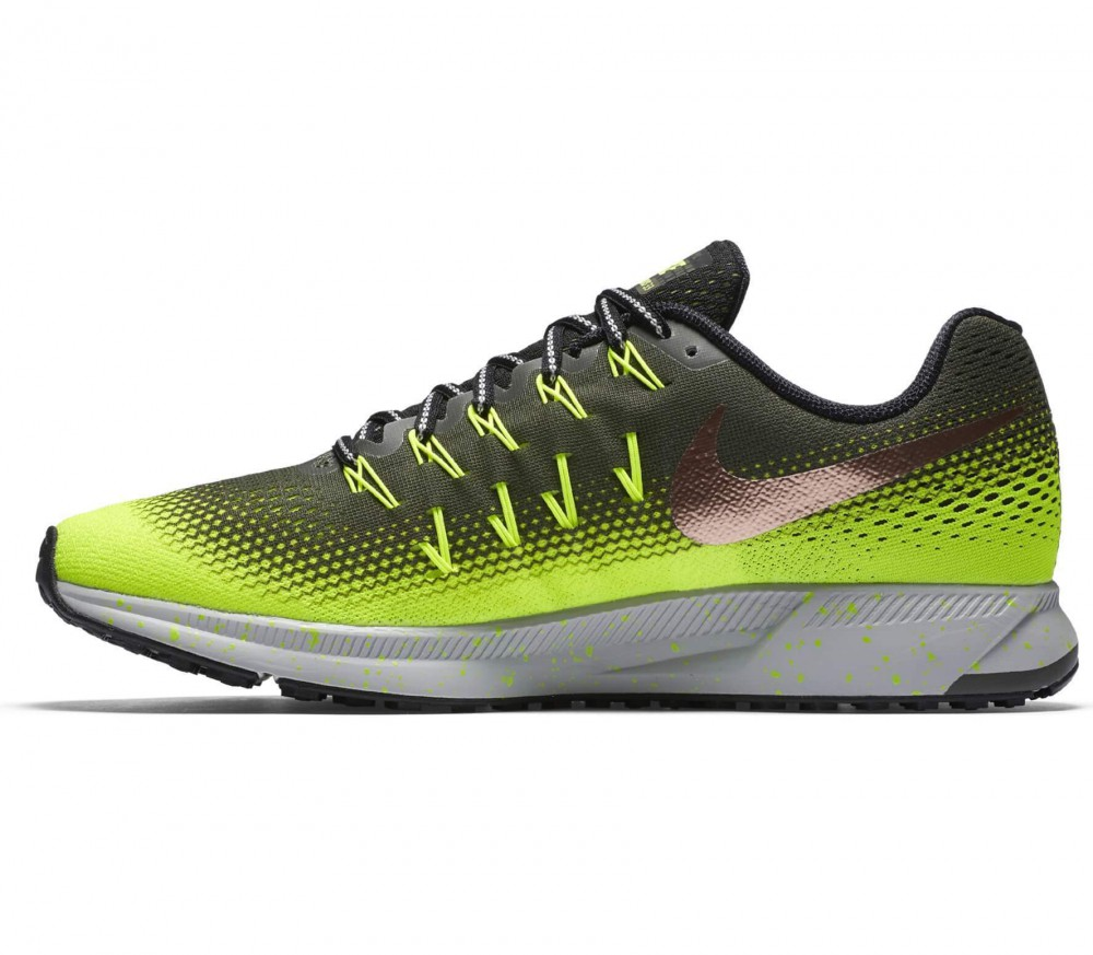 Nike - Air Zoom Pegasus 33 Shield men's running shoes (dark green/light green)