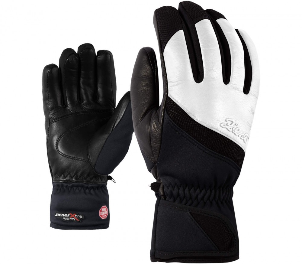 Ziener - Kalifornia GWS PR women's ski gloves (white/black)