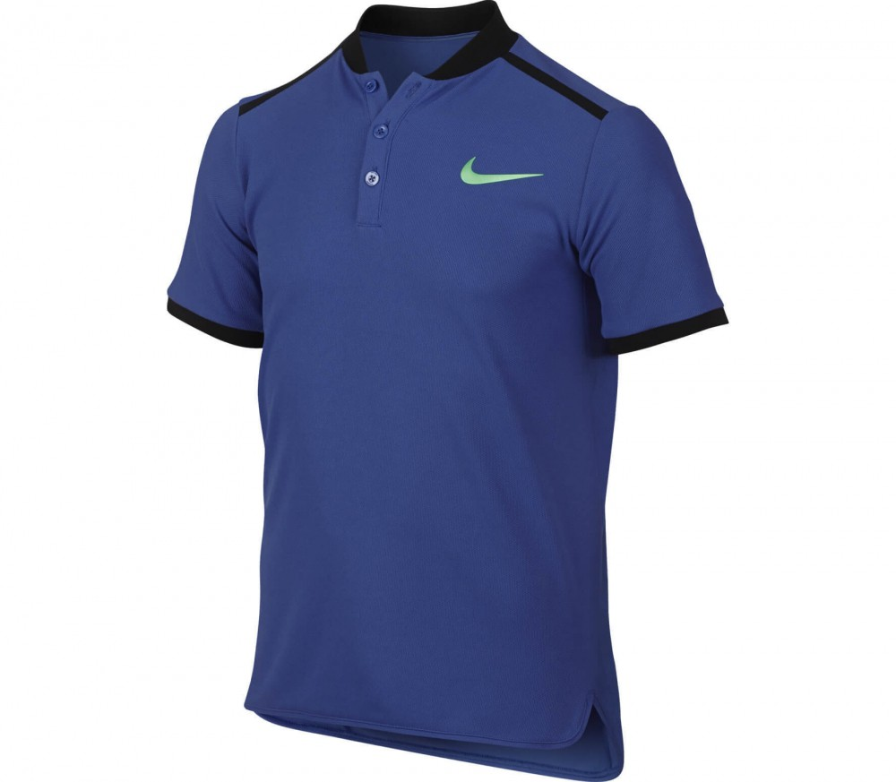 Nike - Advantage Shortsleeve children's tennis polo (blue/green)