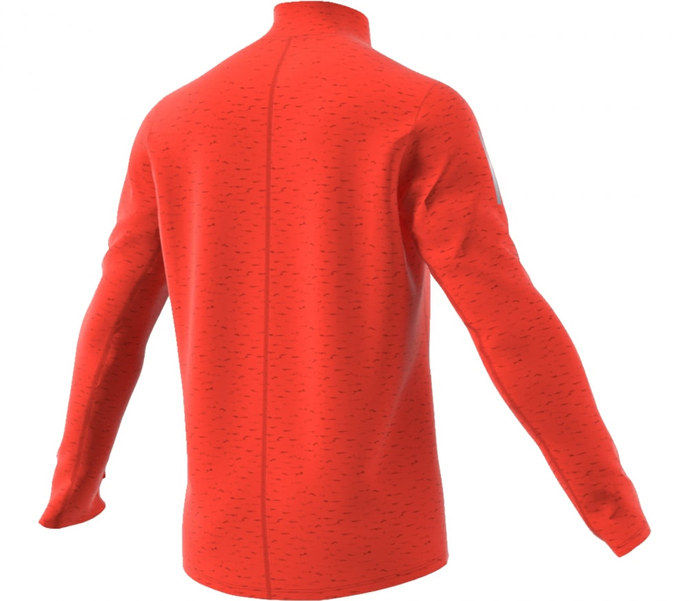 Adidas - Response Longsleeve Zip men's running t-shirt (orange)