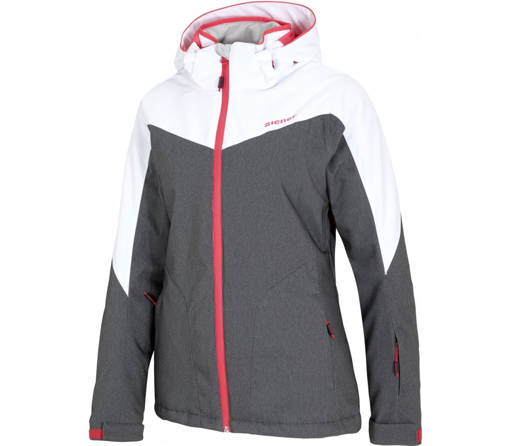 Ziener - Pamina women's skis jacket (grey/white)