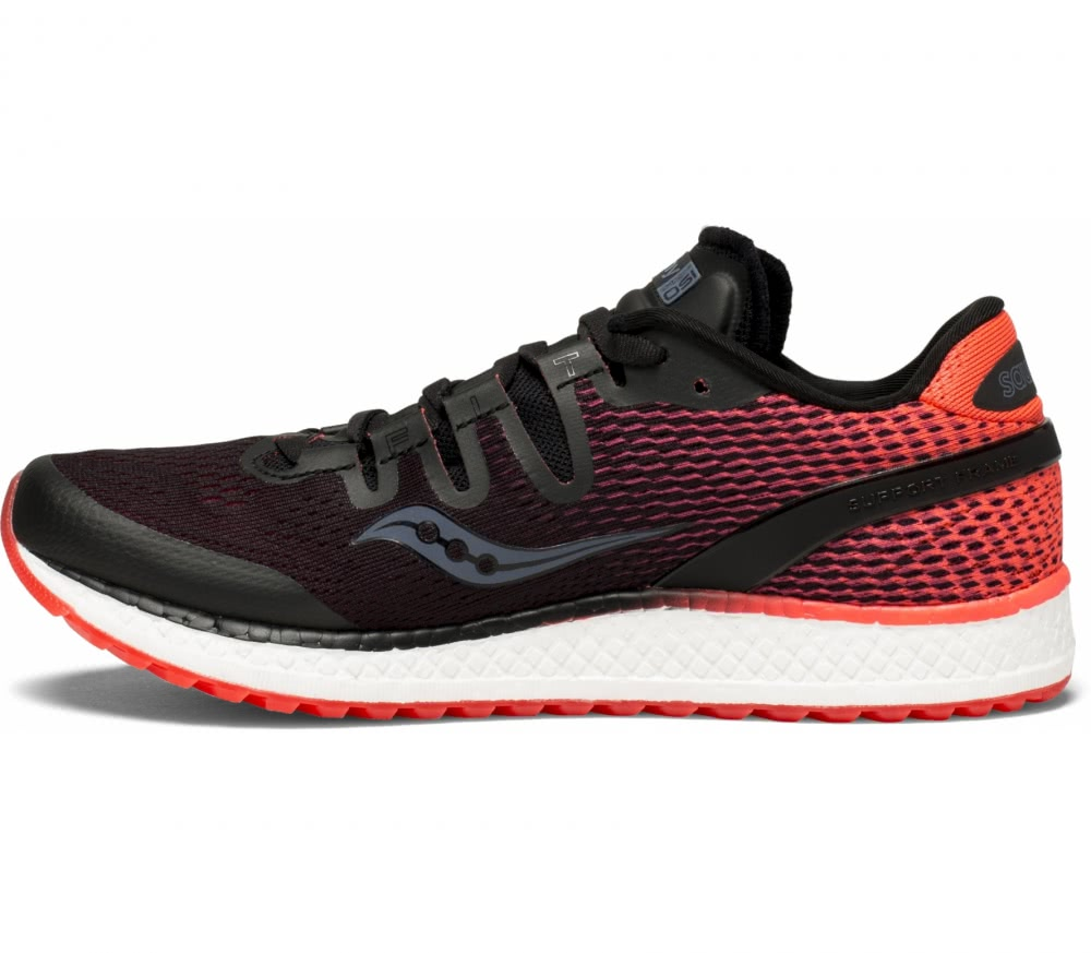 saucony black and red
