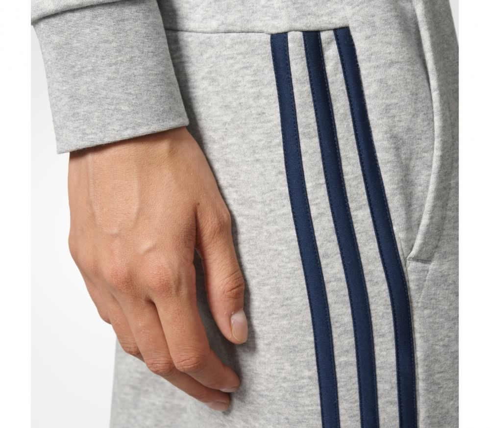 Adidas - Essentials 3 Stripes Tapered women's training pants (grey/black)