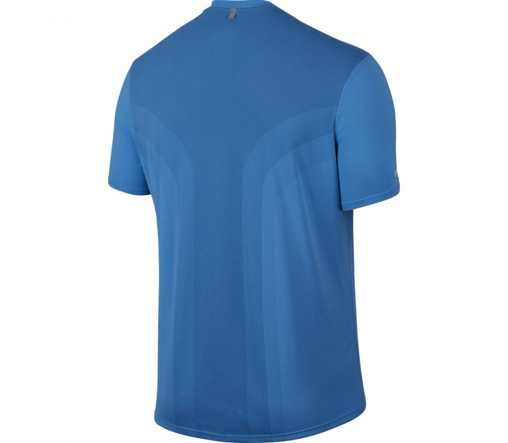 Nike - Dry Contour Shortsleeve men's running top (light blue)