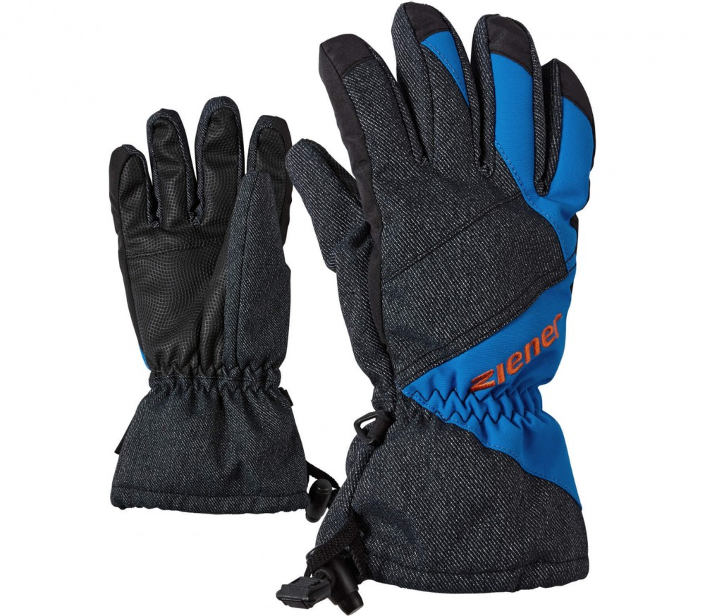 Ziener - Agil AS® Children ski gloves (blue/grey)