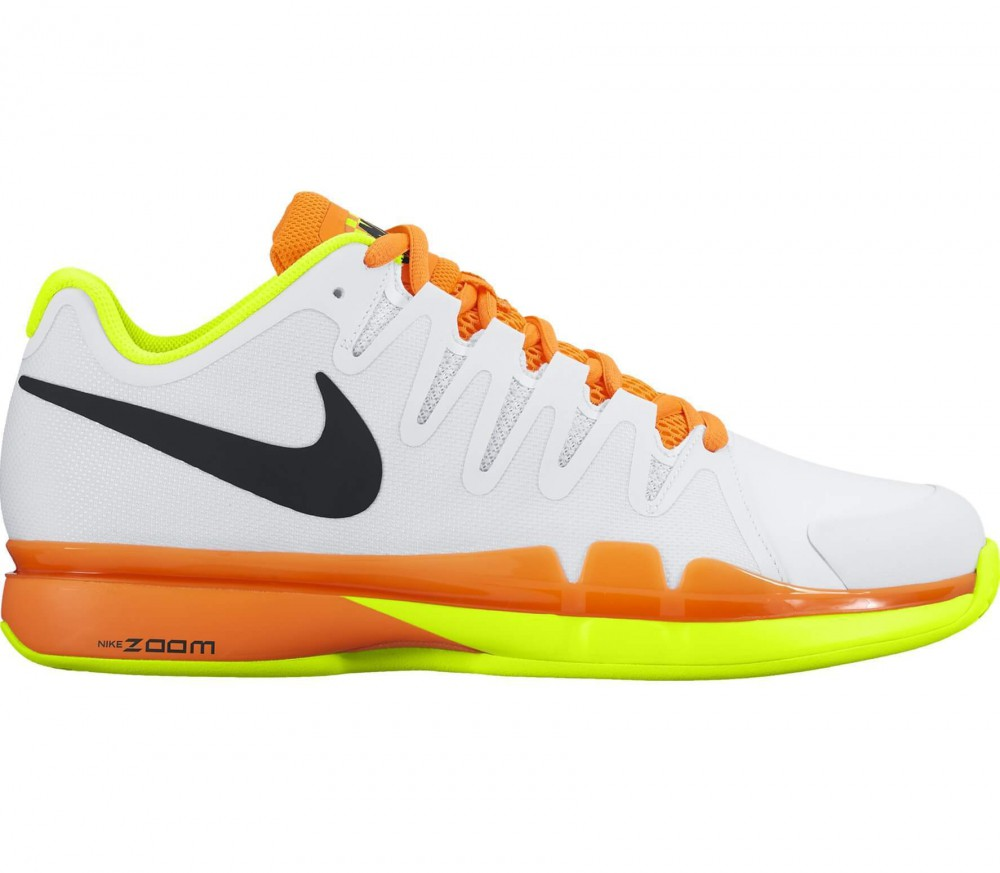 Nike - Zoom Vapor 9.5 Tour Clay men's tennis shoes (white/light yellow)