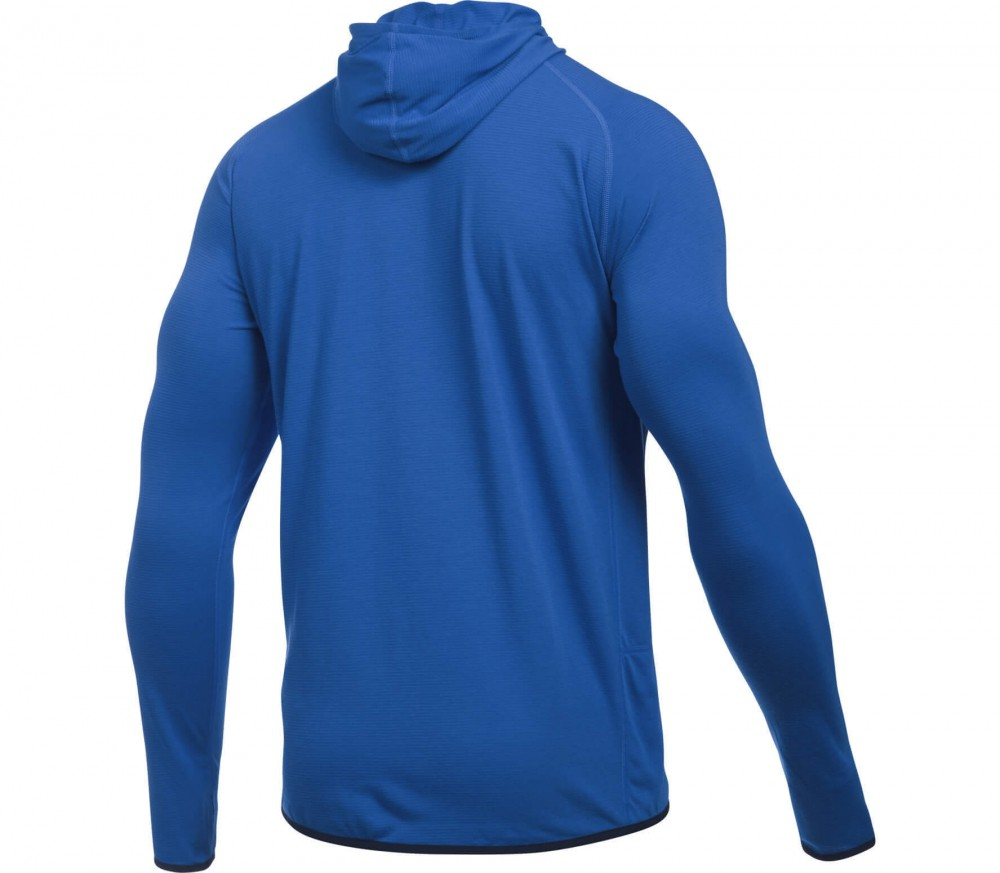 Under Armour - Threadborne Streaker men's running hoodie (blue)